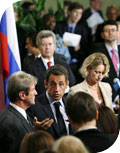 Nicolas Sarkozy, President of France at UN Headquarters in New York. 25 September 2007 - United Nations, New York. Credit = UN Photo/Mark Garten