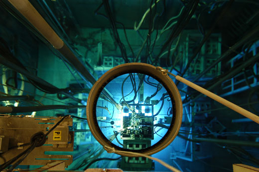 Osiris Research Reactor, located in the CEA Centre in Saclay, France. Photo credit : L.Godart/CEA