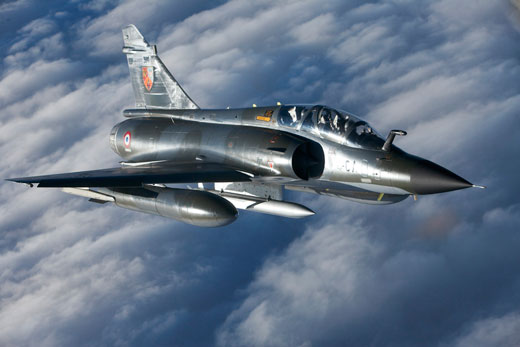 Flying Mirage 2000N. Photo credit : Olivier RAVENEL
